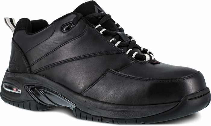 Reebok Work WGRB4177 Black Comp Toe, Conductive, Men's High Performance Athletic Oxford