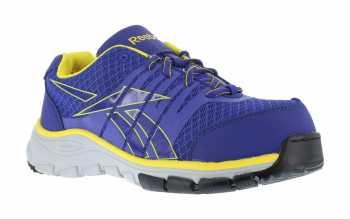 Reebok WGRB457 Purple/Yellow Comp Toe, SD, Women's Low Athletic