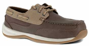 Rockport WGRK641 Sailing Club, Women's, Brown/Tan, Steel Toe, SD, Boat Shoe