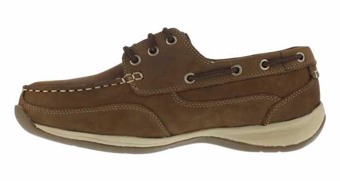 Rockport Works WGRK6736 Brown Steel Toe, EH, Men's Sailing Club 3 Eye Boat Shoe
