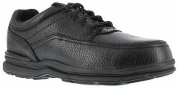 Rockport Works WGRK6761 Black Steel Toe, SD, Men's World Tour 5 Eye Tie Casual Moc Toe Oxford