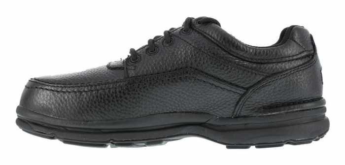 Rockport Works WGRK6761 Black Steel Toe, SD, Men's World Tour 5 Eye Tie Casual Moc Toe Oxford
