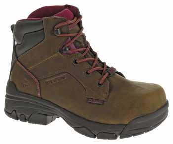 Wolverine WW10383 Merlin Brown, Waterproof, Comp Toe, EH, 6 Inch Work Boot