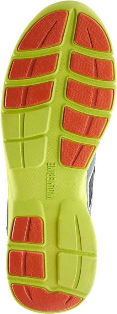 Wolverine WW10675 Jetstream Men's, Grey/Green, Comp Toe, EH, Athletic