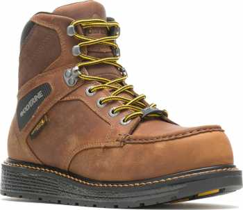 Wolverine WW211001 Hellcat Moc Toe, Men's, Brown, Comp Toe, EH, WP, 6 Inch Boot