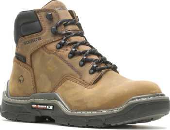 Wolverine WW211161 Raider, Men's, Brown, Comp Toe, EH, WP, 6 Inch Boot