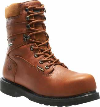 Wolverine WW2566 DuraShocks Brown, Comp Toe, EH, Gore-Tex Waterproof, Men's 8 Inch Work Boot