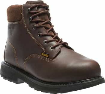 Wolverine WW4451 Cannonsburg Brown, Steel Toe, EH, Internal Met Guard, Men's 6 Inch Work Boot