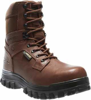 Wolverine WW4795 Prairie Trekker, Men's, Brown, Soft Toe, WP, 8 Inch Boot