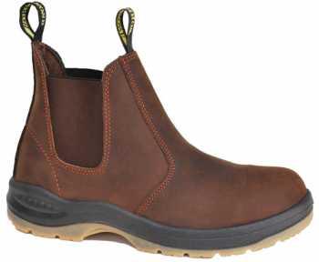 Work Zone WZS660-BR Men's, Brown, Steel Toe, EH, 6 Inch Boot