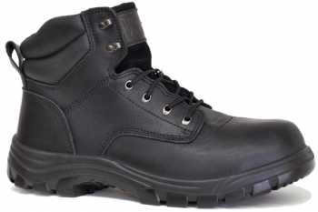 Work Zone WZS691-BL Men's, Black, Steel Toe, EH, 6 Inch Boot